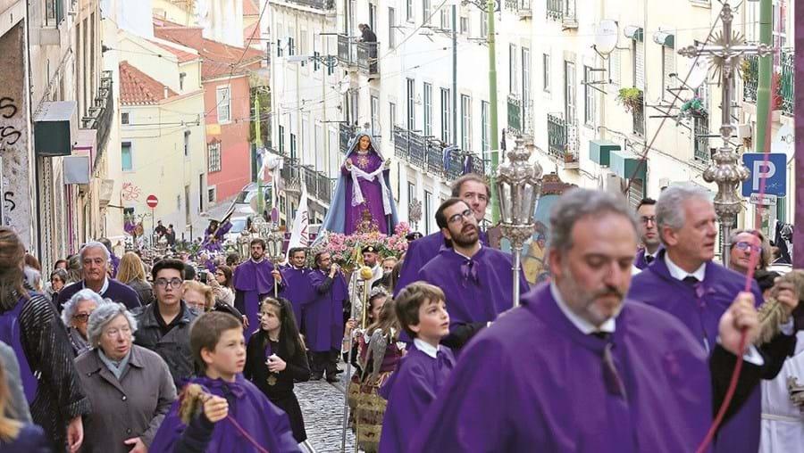 Cortejo percorreu a Baixa da cidade de Lisboa, desde a Igreja de São Roque, no Bairro Alto, até à Igreja da Graça