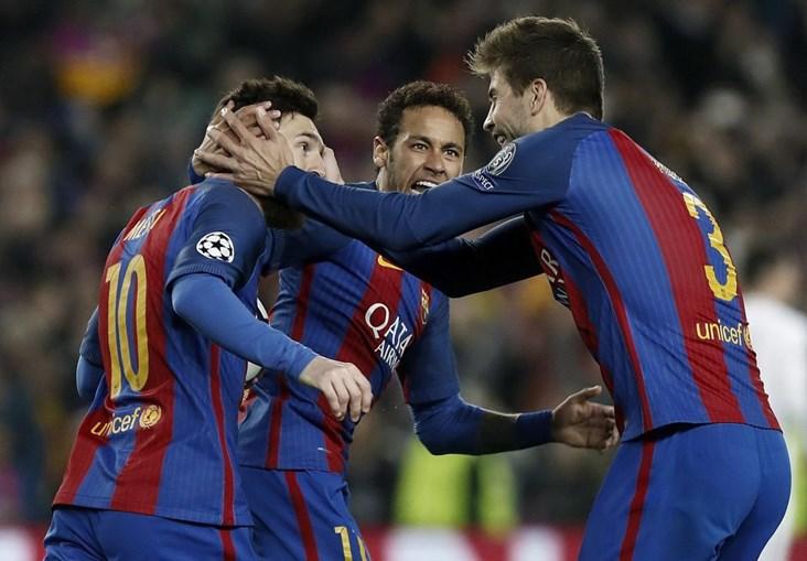As melhores imagens do Barcelona-Paris Saint-Germain