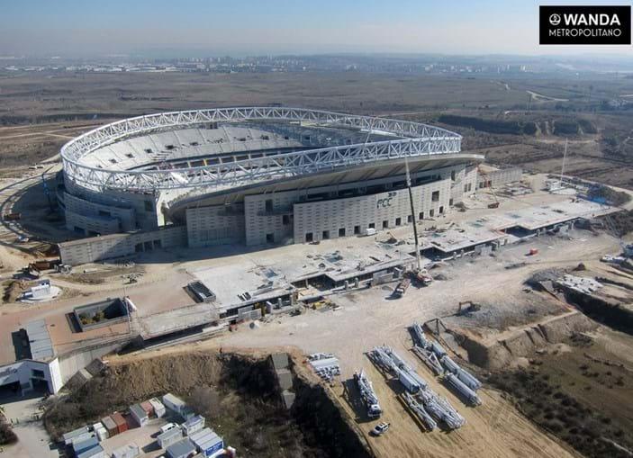 O novo estádio La Peineta, numa imagem registada no final de janeiro