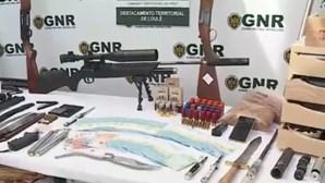 GNR apreende dezenas de armas e munições em Loulé