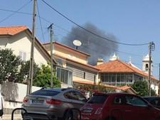 Moradores captaram coluna de fumo após tragédia