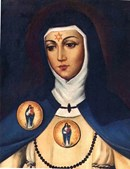 Santa Beatriz da Silva - Nobre e religiosa portuguesa do séc. XV, fundou a Ordem da Imaculada Conceição a pedido da Virgem Maria, que jura ter-lhe aparecido