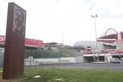 Rotunda onde aconteceu o atropelamento de um adepto italiano