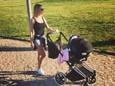 Laura com a filha Beatriz