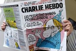 O Jornal satírico Charlie Hebdo.