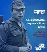 Cartaz da Juventude Popular com Salgueiro Maia