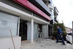 Caixa multibanco ficou danificada