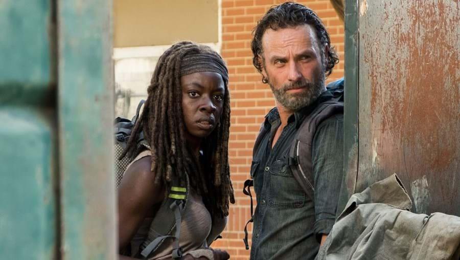 Danai Gurira e Andrew Lincoln em 'The Walking Dead'