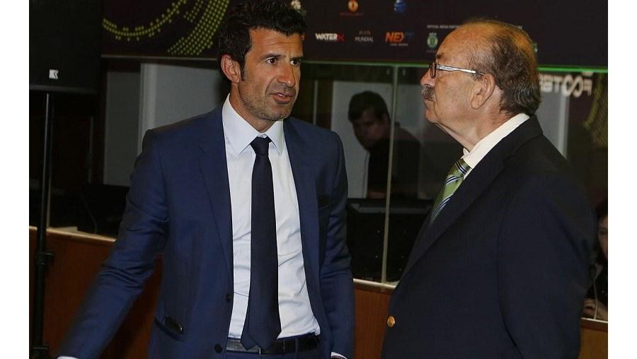 Luís Figo e Aurélio Pereira