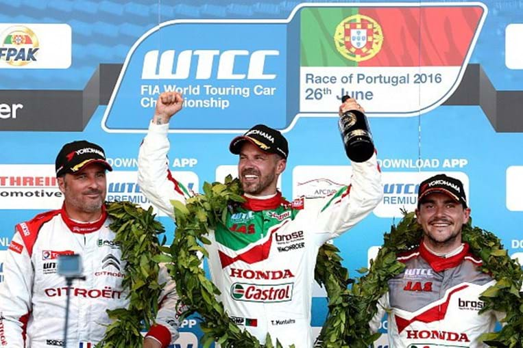 Tiago Monteiro venceu a prova do circuito mundial do  WTCC disputada em Vila Real em 2016