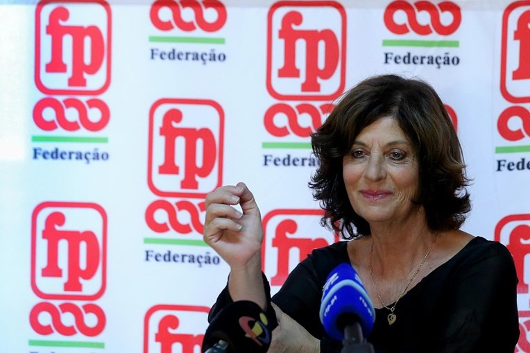 Ana Avoila, coordenadora da Federação Nacional dos Sindicatos dos Trabalhadores em Funções Públicas