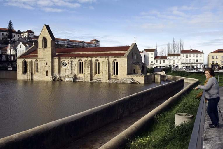 Convento de Santa Clara ficou inundado nas cheias de 2016