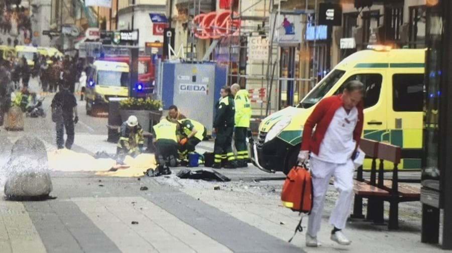 A rua onde o camião atropelou dezenas de pessoas