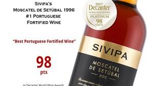 Decanter elege Moscatel de Setúbal 1996 SIVIPA melhor vinho fortificado português