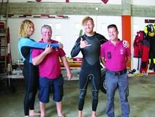Dois surfistas escoceses, irmãos, foram salvos quarta-feira pelo ISN numa praia de Alcobaça