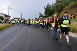 Milhares de peregrinos a caminho do Santuário de Fátima