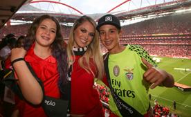 Famílias dos jogadores fizeram questão de estar presentes no estádio