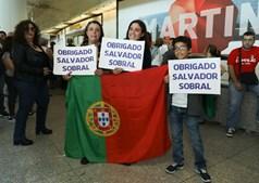 Mensagens de agradecimento ao intérprete da canção de Portugal
