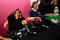 O vencedor da Eurovisão parece ainda pouco habituado ao recente mediatismo