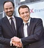 Macron com Édouard Philippe