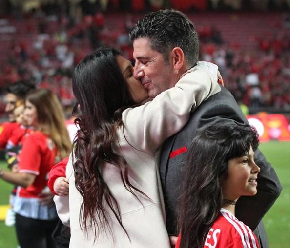 Rui Vitória celebra tetracampeonato com a mulher