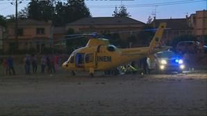 Helicóptero do INEM transportou os feridos graves para os hospitais da Universidade de Coimbra