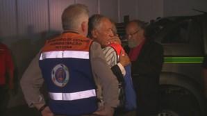 Marcelo Rebelo de Sousa no momento em chega ao teatro das operações