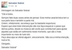 Pedido de desculpas de Salvador