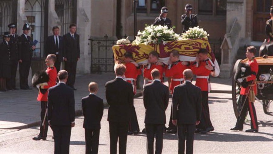 Funeral da Princesa Diana, em 1997