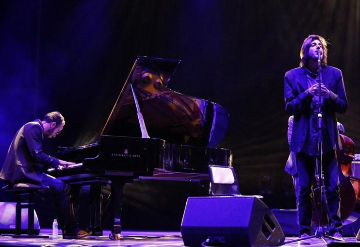 Salvador Sobral  no palco