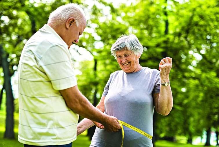Com o avançar da idade, o metabolismo fica mais lento e é cada vez mais difícil perder peso