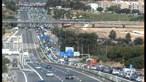 Acidente na ponte 25 de abril faz sete feridos
