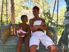 Cristiano Ronaldo com os filhos