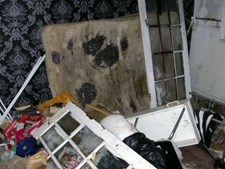 A casa estava num estado 'deplorável'
