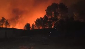 Fogo em Alijó continuou a propagar-se de madrugada