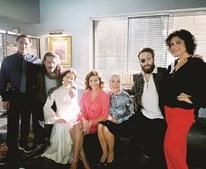 Os atores Luís Vicente, João Craveiro, Mariana Monteiro, Andreia Dinis, Carla Andrino, João Vicente e Sílvia Filipe