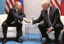 Primeiro encontro bilateral entre Donald Trump e Vladimir Putin