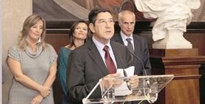 Raquel Alexandra (ex-vogal do regulador dos media), Luísa Roseira (vogal), Carlos Magno (presidente) e Alberto Arons de Carvalho (vice-presidente)