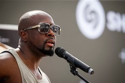 O rapper e produtor musical Wyclef Jean também figura entre as celebridades deste Web Summit