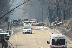 Dezenas de pessoas perderam a vida a fugir do fogo pela EN2326