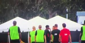 Depois da 'brincadeira' Neymar abandonou o treino, visivelmente irritado