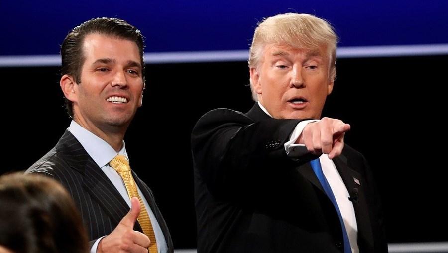 Trump com o filho mais velho