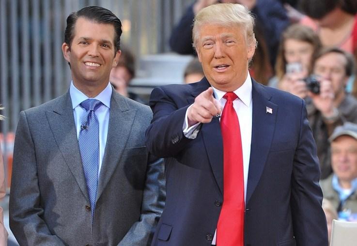 Donald Trump com o filho mais velho, conhecido como Trump Jr.