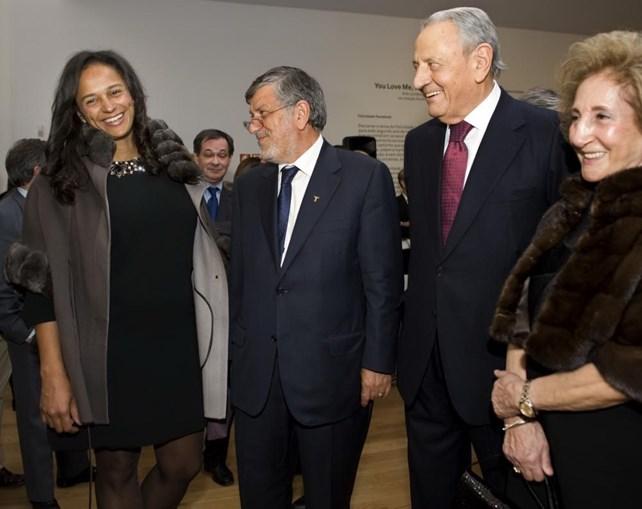 Américo Amorim com a mulher, Fernanda, a empresária Isabel dos Santos e Fernando Teles