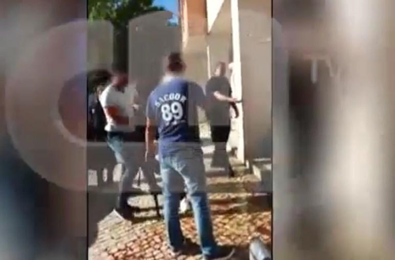 Momento da detenção do suspeito