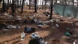 Campistas deixam rasto de lixo depois do Sudoeste