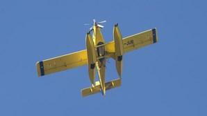 Risco de incêndio põe aviões a vigiar aldeias