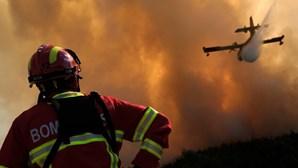 Oito meios aéreos e mais de 180 bombeiros combatem incêndio no Sardoal
