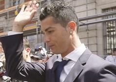 Cristiano Ronaldo à chegada ao tribunal