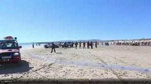 Acidente aconteceu na Costa da Caparica